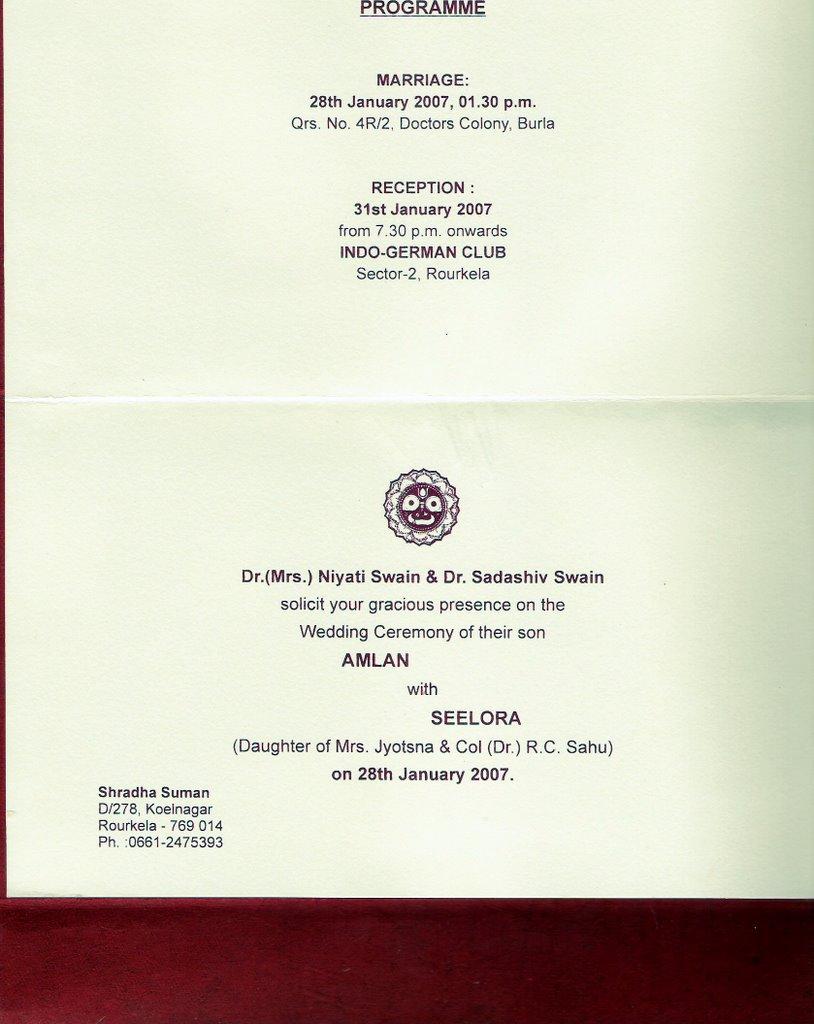 Mama Sama Biltu Invitation Card for Biltus marriageEnglish