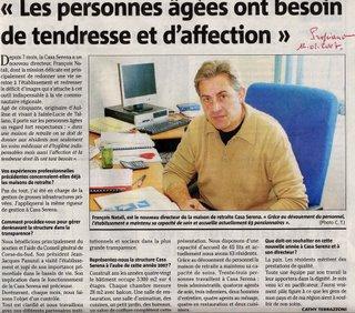 François Natali, le directeur de la maison de retraite de Propriano