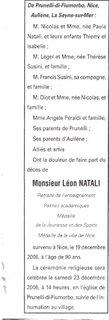 Décès Natali Léon