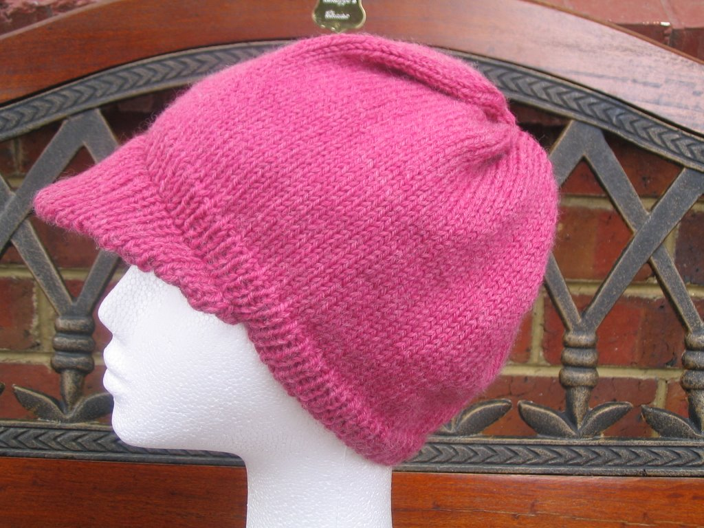 Knit Hat With Brim Pattern Free : Shazzas Patterns: BRIMMED CAP