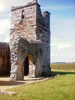 Church built inside prehistoric pagan henge site