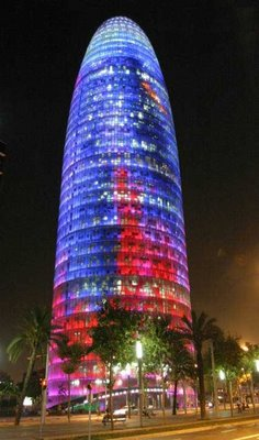 Crica para aumentares o calibre da Torre Agbar - Barcelona
