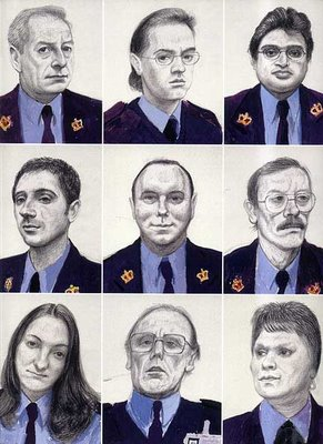 Twelve Portaits after Ingres in a Uniform Style by David Hockney