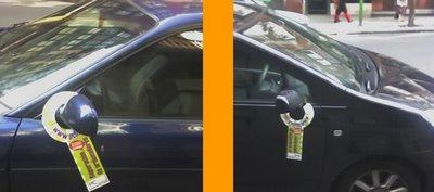publicidad hasta en los espejos de los coches