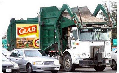 publicidad hasta en los camiones de basura