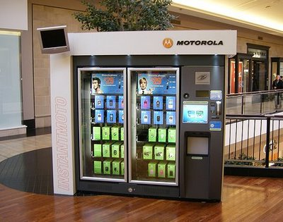 maquina vending teléfonos moviles motorola