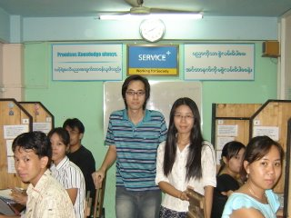 Theint Theint,Tun Tauk Phyo,Myanmar Internet Training