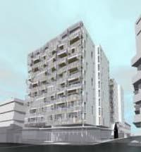 Perspective of proposed Q on Taranaki apartments