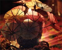 Mike's photo of an umbrella sculpture at Hadyn's Tiki Bar party