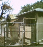 Burnt-out remains of Footscray Ave cottage