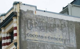 Old signs in Wellington - Cadbury, Ghuznee St