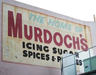 Old signs in Wellington - Murdoch's, Taranaki St