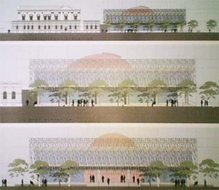 Elevations of the proposed NZ Supreme Court
