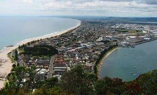 Mt Maunganui and suburbs from Mauao