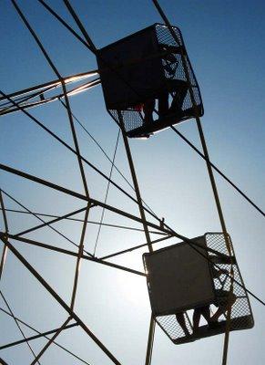 Ferris wheel at Te Aro park during Cuba St Carnival