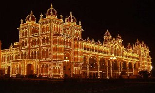 Mysore Palace or the Maharajah's Palace at night