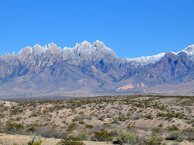 Organ Mountains -- Light Snow