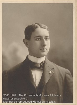 A.S.W. Rosenbach, 1898, the year he graduated from college.