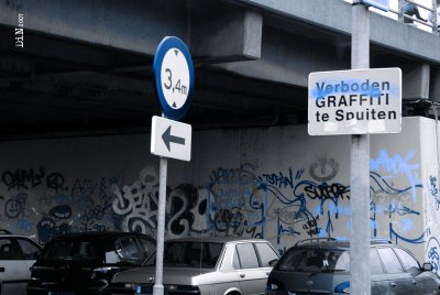 verboden graffiti te spuiten ©Dreamin in Neon 2007
