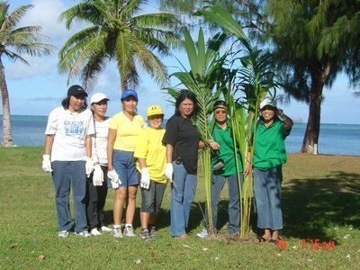 Saipan Lions Club Tree Planting