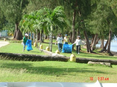Saipan beach cleanup
