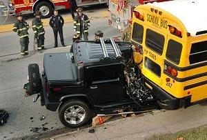 Hummer vs school bus