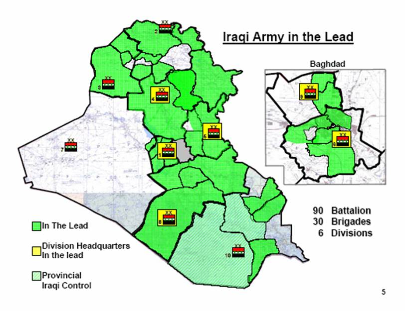 Another Iraqi Province Will Take Over Security Operations in Days – Map of Iraq Provinces