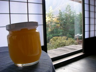 Apple jelly, and the view through my shoji