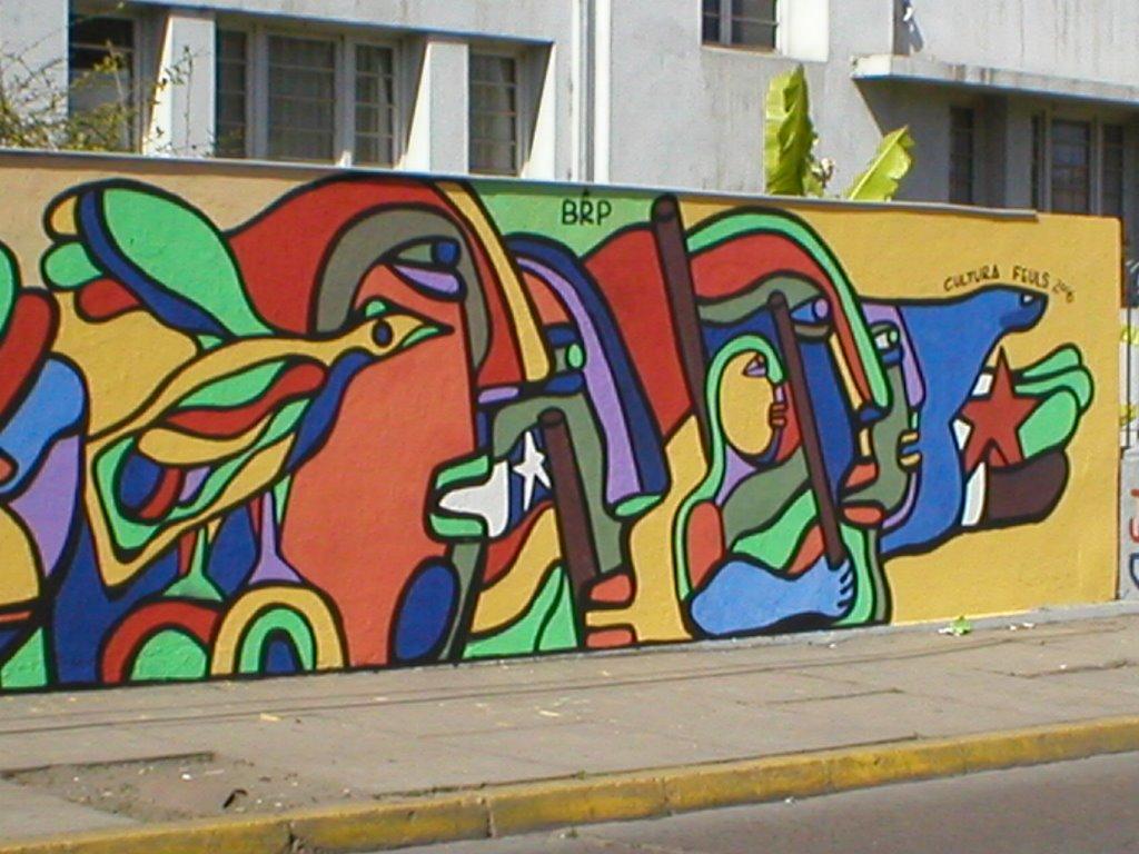 El arte brigadista mural campus ignacio domeyco for Arte colectivo mural