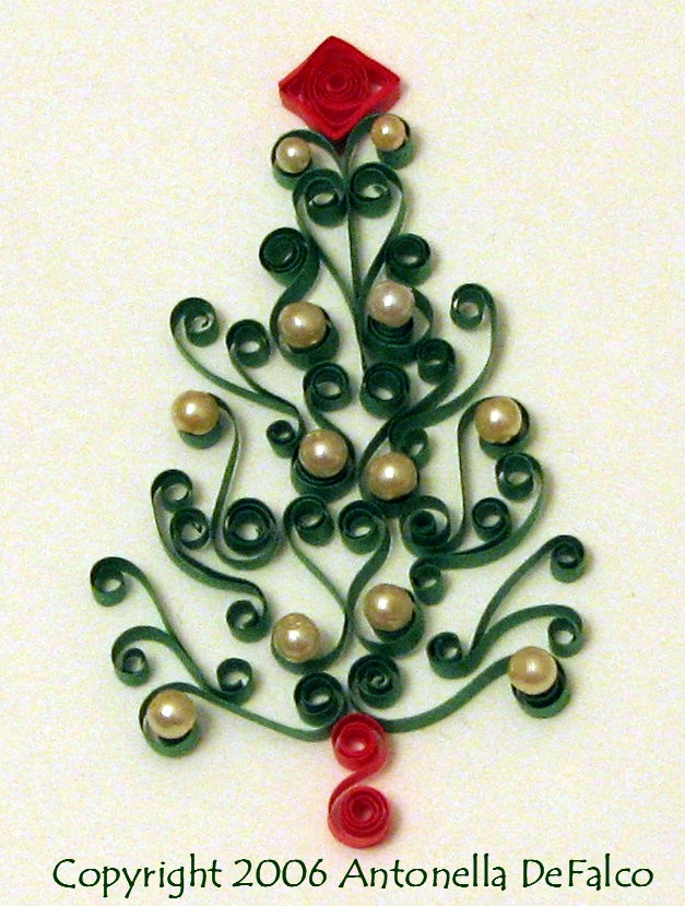Fishing Line Christmas Tree Patterns http://quilling.blogspot.com/2006/12/on-fifth-day-of-quilling-scroll-tree.html