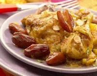 Recettes du Maroc : Tagine de poulet au Miel et aux Fruits Secs.