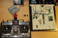 r/c circuit with various capacitors - LED off