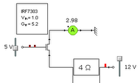 simple circuit using IRF7303 specs