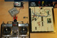 r/c circuit with various capacitors - LED on