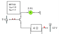 simple circuit using IRF7101 specs