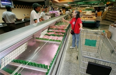 Mark in Mexico, http://markinmexico.blogspot.com, For gifts, collectibles, Mexican arts and crafts, please visit Pale Horse Galleries, http://palehorsemex.vstore.ca/, A supermarket meat counter employee explains to Mother Hubbard that Venezuela's cupboards are bare. Except, of course, for chicken feet.