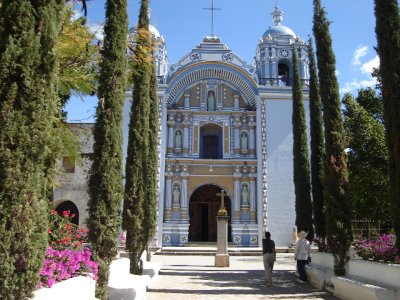 For gifts, collectibles, Mexican art and crafts, visit Pale Horse Galleries, http://palehorsemex.vstore.ca/ The church in Ocotlan de Morelos, Oaxaca, Mexico. Construction was started on this church by benedictine Friars in the early 1500's.