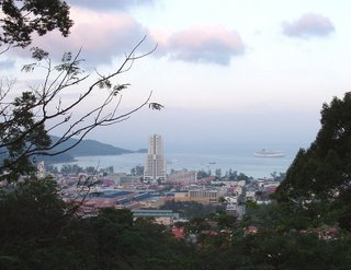 View over Patong, 9th January with Star Cruise Ship