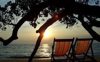 Sun Set At Jomtien Beach