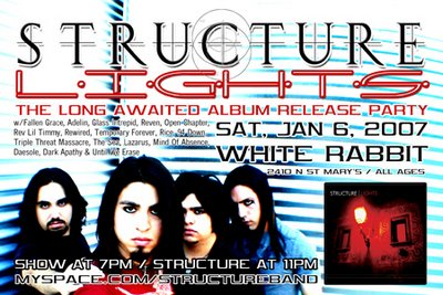 Structure CD Release party at the White Rabbit