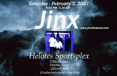 Band Jinx at Helotes Sports Plex Saturday