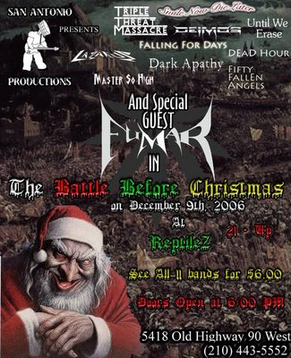 Battle Before Christmas 11 Bands at Reptilez Sports Bar