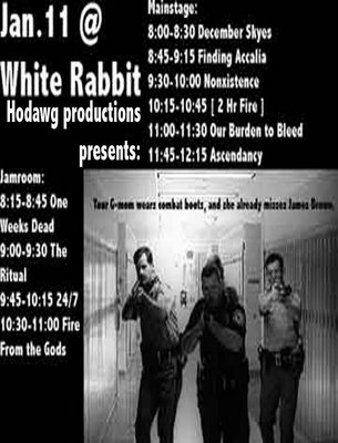 Bands Jan 11 at the White Rabbit
