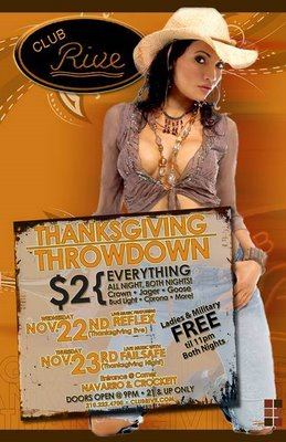 Thanksgiving Throwdown at Club Rive San Antonio