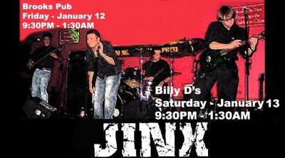Jinx band at Brooks Pub and Billy D's