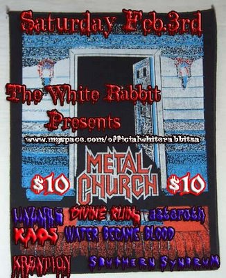 Metal Church at The White Rabbit San Antonio Saturday Feb 3rd