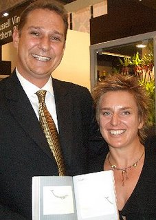 Anthony Hamilton Russell and Talita Engelbrecht of Hamilton Russell Vineyards (with a good book)