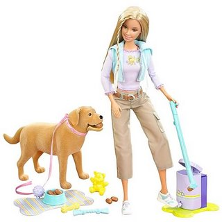 Barbie and her dog Tanner the poop eater.