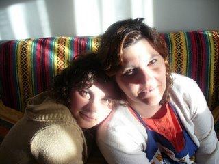 Mamá y mi hermana Luli