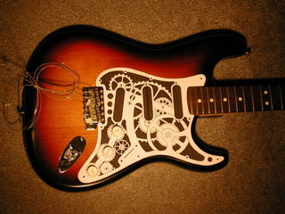 Electrolytic etched brass strat pickguard stratocaster guitar electrolytic etched brass strat pickguard sciox Images
